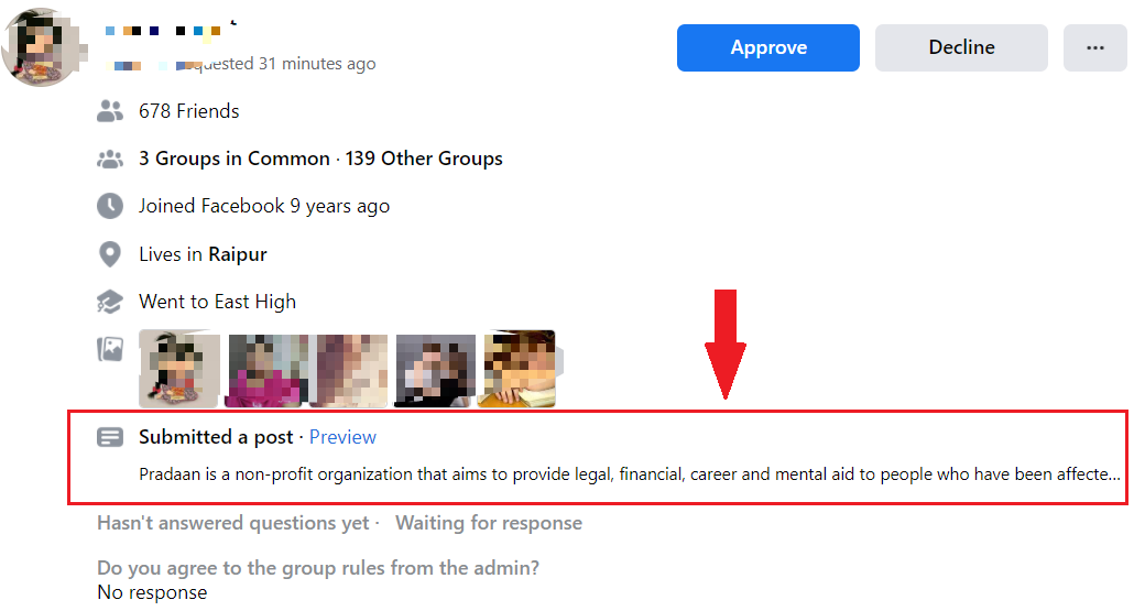 Preview Post in New Public Groups Feature