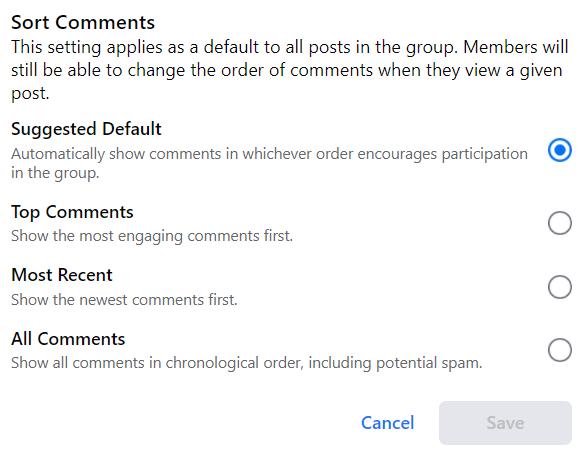 sort comments