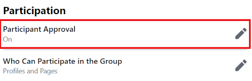 Participant Approval in new public facebook group expericenc