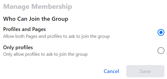 setting of who can join the group