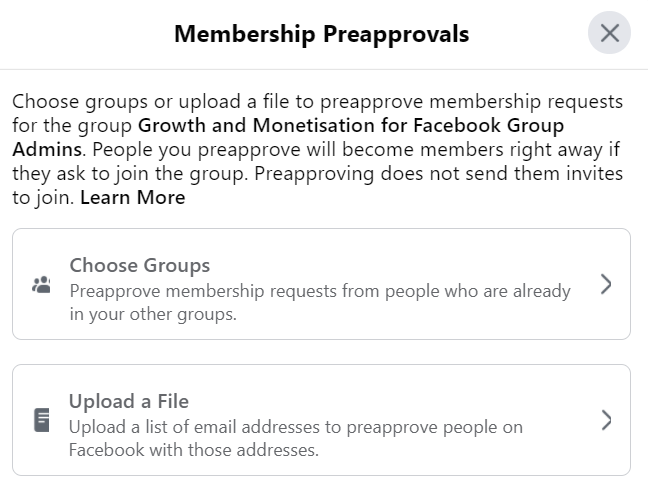 who is preapproved to join
