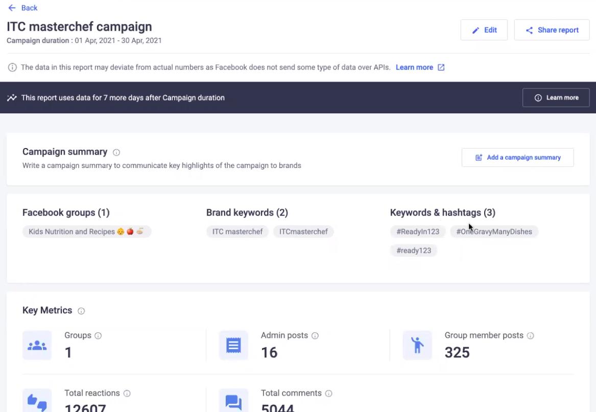 Convosight REPORT GENERATOR for Facebook groups