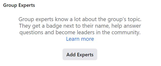 invite members as group expert 1