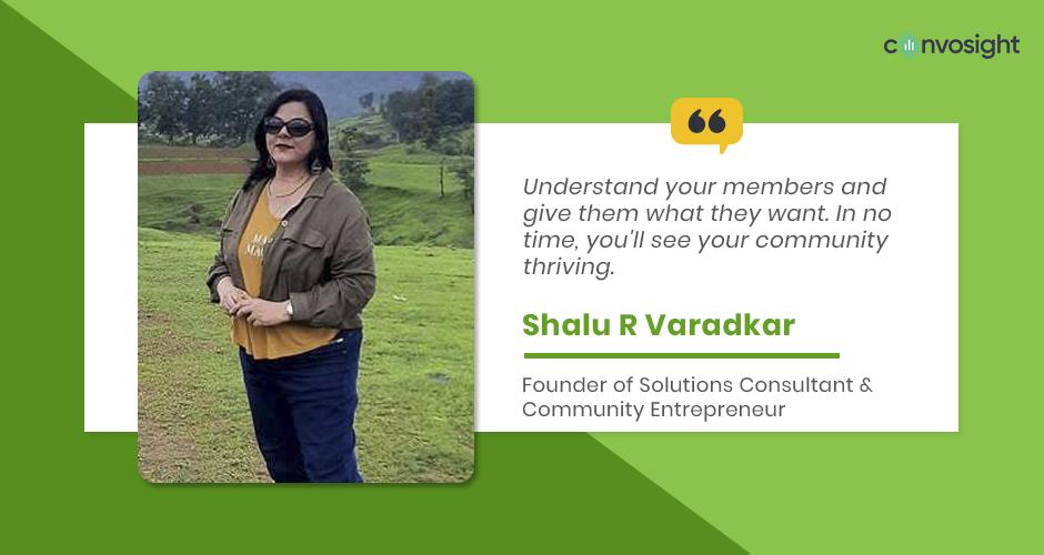 Success Story of Shalu R Varadkar