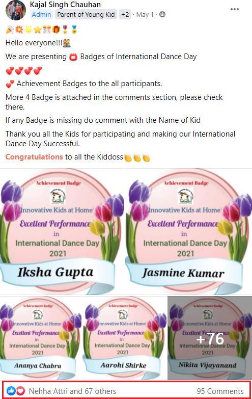 Kajal Singh Chauhan Admin Story
