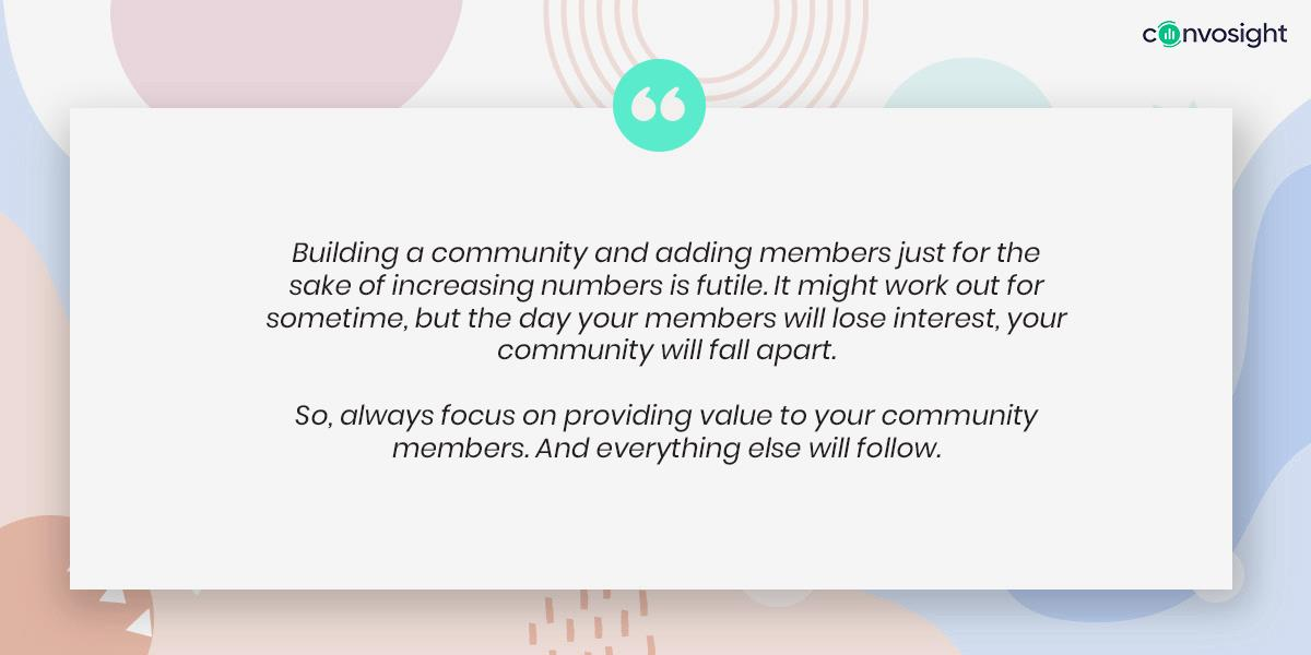 Ruchi's message for other community leaders